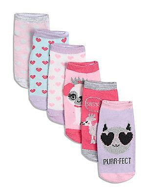 The Children's Place Assorted Toddler Girl Patterned Ankle Socks - Pack Of 6