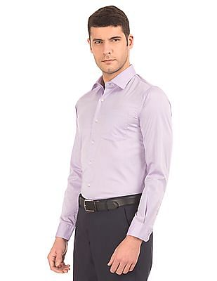 Arrow Slim Fit Herringbone Weave Shirt