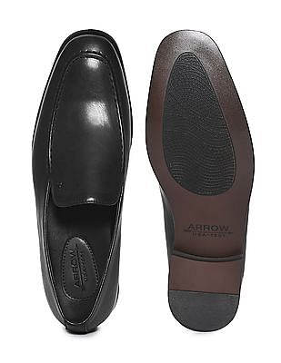 Arrow Leather Slip On Shoes
