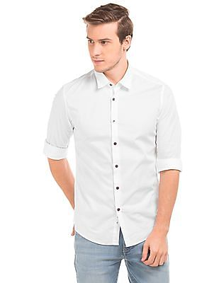 Flying Machine French Placket Slim Fit Shirt