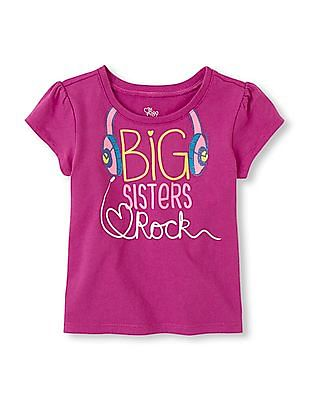 The Children's Place Baby Girl Short Sleeve Graphic T-Shirt