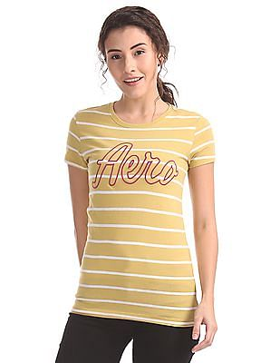 Aeropostale Striped Regular Fit T-Shirt