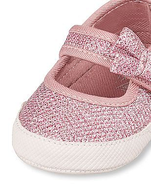 The Children's Place Baby Girls Bow Sparkle Mary Jane Shoe