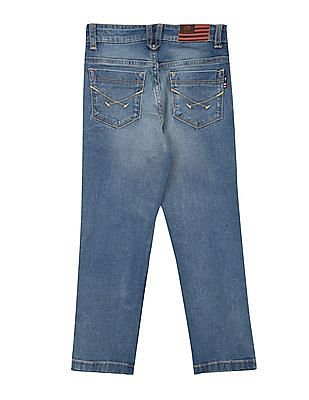 U.S. Polo Assn. Kids Boys Stone Washed Regular Fit Jeans