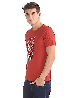 Colt Round Neck Printed T-Shirt