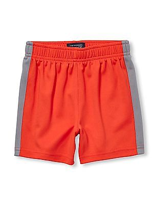 The Children's Place Toddler Boy Matchables Colour block Mesh Pieced Knit Shorts