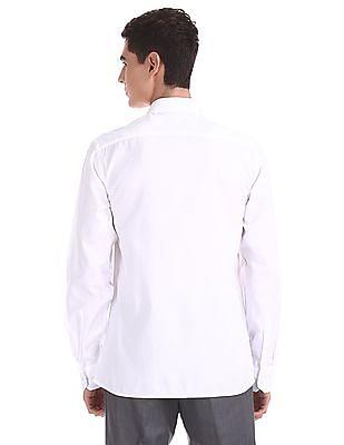 Arrow White Cutaway Collar Patterned Shirt