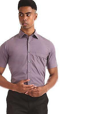 Arrow Purple Patch Pocket Patterned Shirt