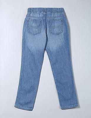GAP Girls Blue 1969 Chambray Pull On Pants