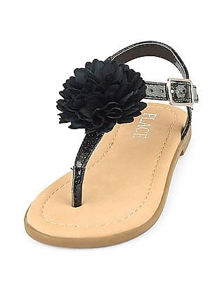 The Children's Place Girls Flower Zahara Sandal