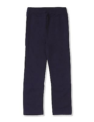 U.S. Polo Assn. Kids Girls Solid Panelled Pants