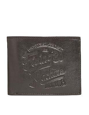 Flying Machine Embossed Logo Bi-Fold Wallet