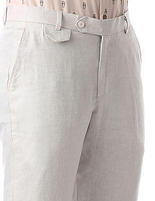 True Blue Slim Fit Linen Trousers
