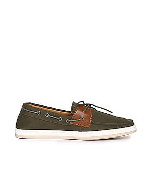 Flying Machine Canvas Boat Shoes