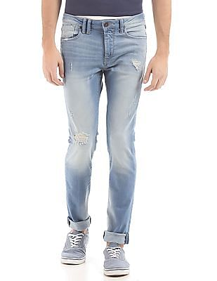 Flying Machine Skinny Fit Distressed Jeans