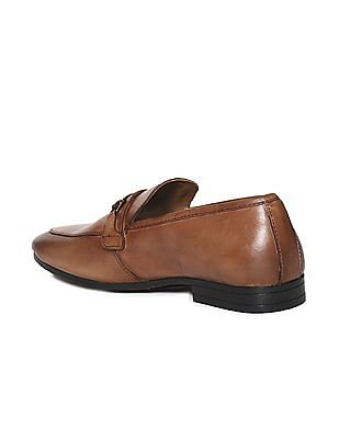 Arrow Brown Horsebit Leather Slip-On Shoes