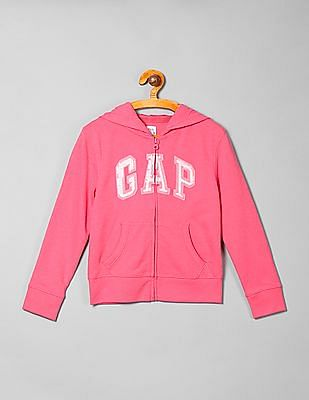 GAP Girls Appliqued Hoodie Sweatshirt