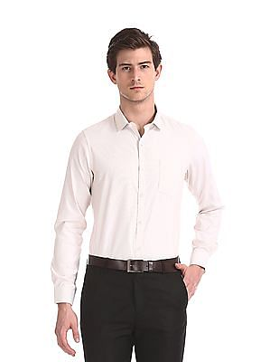 Excalibur Mitered Cuff Vertical Stripe Shirt