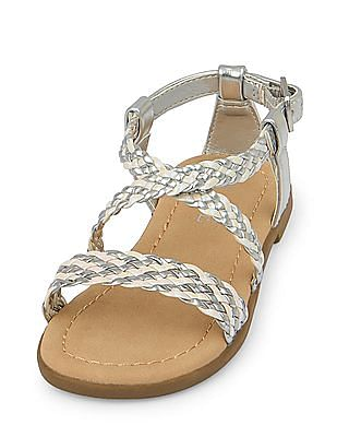 The Children's Place Toddler Girl Braided Zahara Sandal