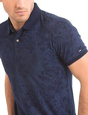 Arrow Sports Floral Print Regular Fit Polo Shirt