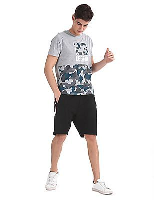 Colt Black Drawstring Waist Knit Shorts