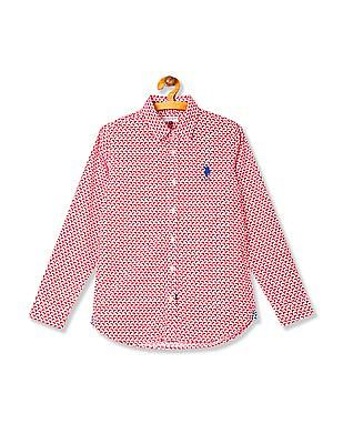 U.S. Polo Assn. Kids Boys Cotton Printed Shirt