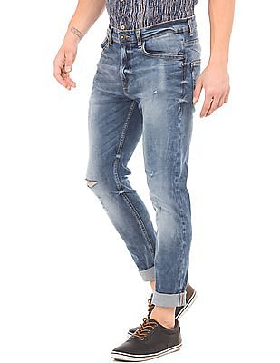 Cherokee Distressed Tapered Fit Jeans