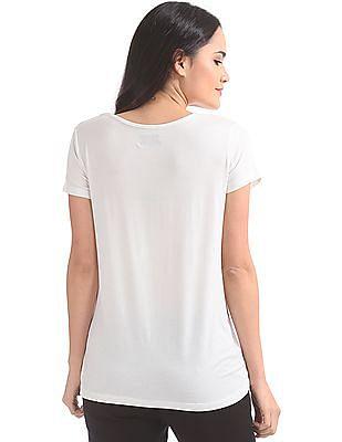 Elle Studio Graphic Print Round Neck T-Shirt