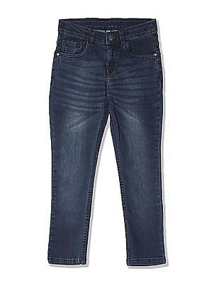 FM Boys Boys Skinny Fit Whiskered Jeans