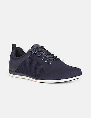 U.S. Polo Assn. Men Blue Panelled Lace Up Shoes