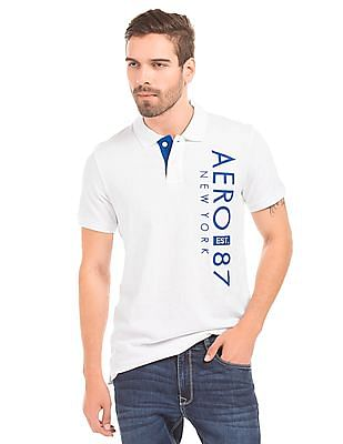 Aeropostale Appliqued Front Polo Shirt
