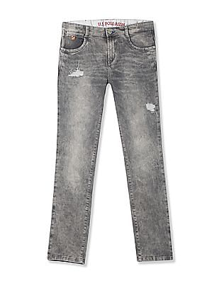 U.S. Polo Assn. Kids Boys Slim Fit Distressed Jeans