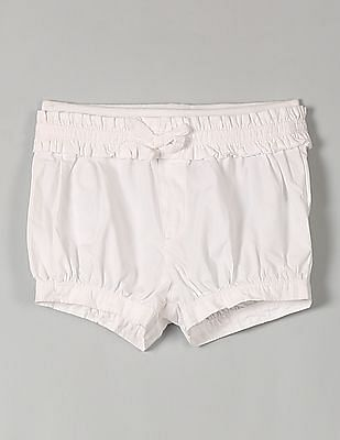 GAP Baby White Ruffle Trim Bubble Shorts
