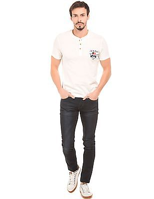 U.S. Polo Assn. Denim Co. Muscle Fit Cotton Henley Shirt