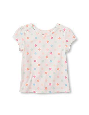 The Children's Place Toddler Girl Short Sleeve Printed Basic Tee