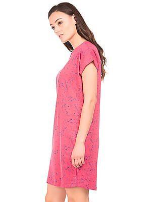 SUGR Splatter Print Cotton T-Shirt Dress