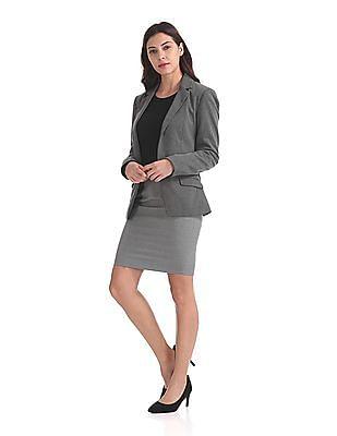 Arrow Woman Regular Fit Pencil Skirt