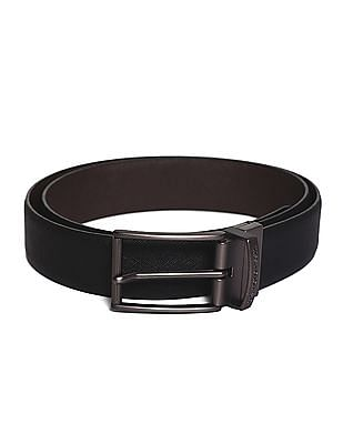 U.S. Polo Assn. Black And Brown Textured Reversible Belt