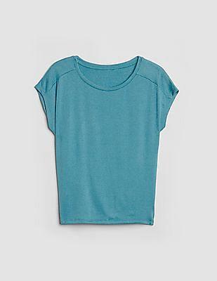 GAP Softspun Short Sleeve Tie-Back T-Shirt