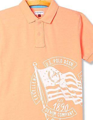 U.S. Polo Assn. Kids Boys Brand Graphic Polo Shirt
