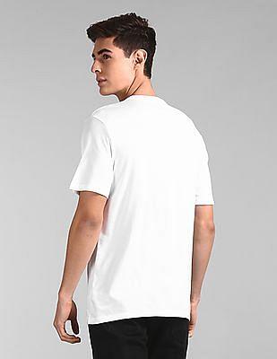 GAP White Crew Neck Logo T-Shirt