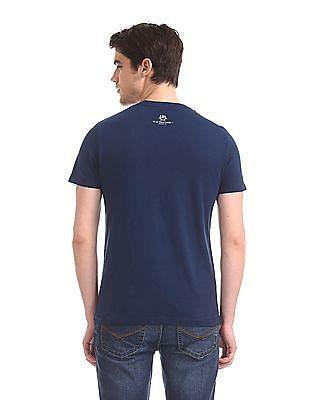 U.S. Polo Assn. Denim Co. Blue Slub Knit Printed T-Shirt