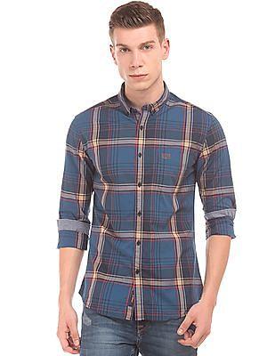 U.S. Polo Assn. Denim Co. Slim Fit Checked Shirt