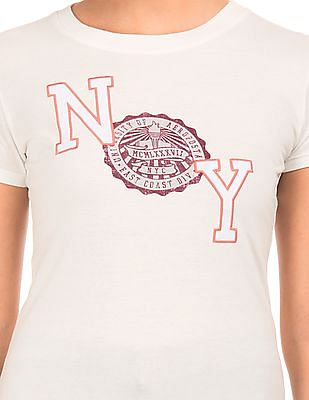 Aeropostale Round Neck Brand Applique T-Shirt