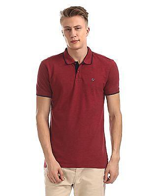 Ruggers Short Sleeves Melange Polo Shirt