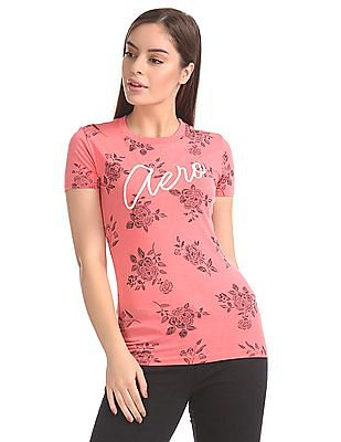Aeropostale Regular Fit Floral Print T-Shirt