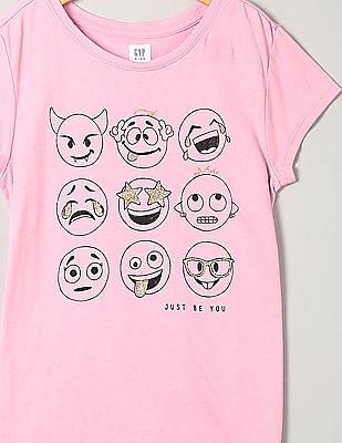 GAP Girls Graphic Short Sleeve T-Shirt