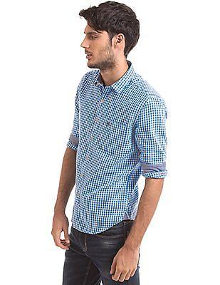 U.S. Polo Assn. Denim Co. Slim Fit Gingham Shirt
