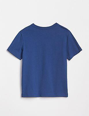 GAP Blue Toddler Boy Short Sleeve Graphic T-Shirt