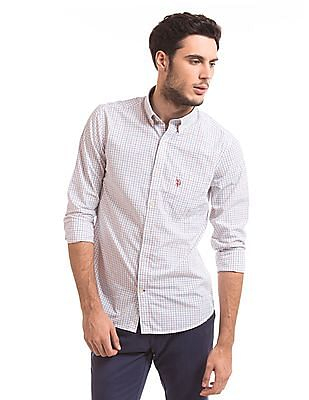 U.S. Polo Assn. Tailored Fit Tattersall Shirt
